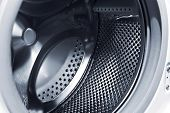 stock photo of washing-machine  - drum of the washing machine - JPG