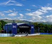 Main stage at 'Festival No.6' 2014