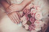 beautiful bouquet  in  the bride's hands