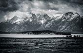 Stormy Skies over Teton Peaks