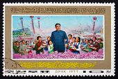Postage Stamp North Korea 1977 Kim Il Sung, Painting