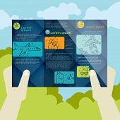 Flat Design, Brochure Template