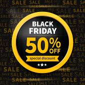 stock photo of special day  - Black friday sale label on typography background - JPG