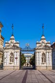 Neo-Baroque gate to the University of Warsaw