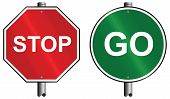 Stop go signs