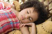 African girl sleeping