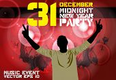Party poster, vector illustration