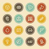 Medicine Web Icon set 2, Color Circle Buttons