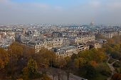 View over Paris from above with flare