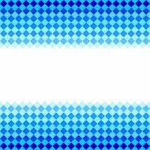 Blue diamond shape mosaic striped geometric seamless frame banner, vector