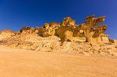 Bolnuevo Mazarron eroded sandstones in Murcia spain