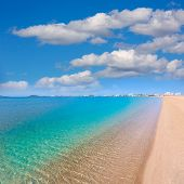 stock photo of manga  - Playa Paraiso beach in Manga Mar Menor Murcia at Spain - JPG