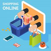 E-commerce or online shopping concept