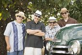 picture of 55-60 years old  - Hispanic men in sunglasses next to truck - JPG