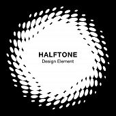 White Abstract Halftone Design Element