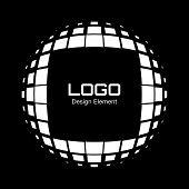 Abstract White Halftone Logo Design Element
