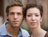 Portrait of young Hispanic couple