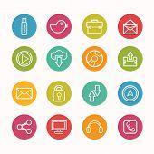 Communication Icons Set Circle Series