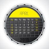 2015 April Calendar With Lcd Display