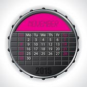 2015 November Calendar With Lcd Display