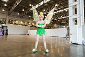 MOSCOW, RUSSIA, October 4: Comic Con attendee poses in the costume Fairy during Comic Con 2014 at The Crocus Center on October 4, 2014 in Moscow, Russia.