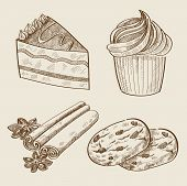 vector hand drawn sweets