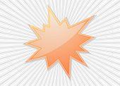 star burst flash  splash star icon design