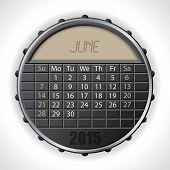 2015 June Calendar With Lcd Display
