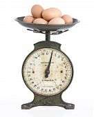 Eggs On An Old Scale Set
