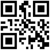stock photo of qr-code  - Abstract QR Code design illustration with black and white pixels in a square frame - JPG
