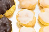 picture of pastarelle  - deliciuos eclairs with cream and sugar fondant - JPG