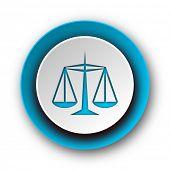 law blue modern web icon on white background