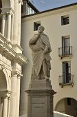 stock photo of vicenza  - Memorial monument to Palladio in Vicenza Italy - JPG