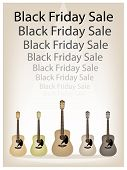 Beautiful Guitars Background of for Black Friday Sale