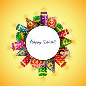 Vector happy diwali background with space for your text