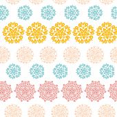 Abstract decorative circles stars striped seamless pattern background
