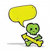 talking skull and crossbones symbol