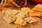 Pumpkin Seed And Cheese Crackers