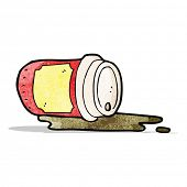 spilled coffee cup cartoon