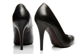 picture of stiletto  - Black stiletto High Heels Shoe photo shot - JPG