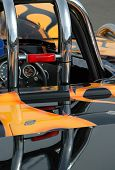 foto of dragster  - Colorful custom car paintwork and roll cage - JPG