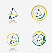 picture of triangular pyramids  - Pyramid shape line design - JPG