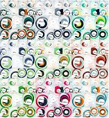 Mega collection of swirl, circle abstract backgrounds, modern design templates