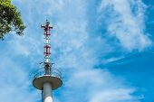 Broadcast Tower On Blue Sky