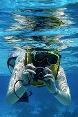 Snorkler with Camera