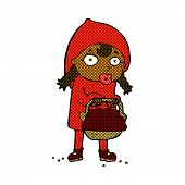 pic of little red riding hood  - little red riding hood retro comic book style cartoon - JPG