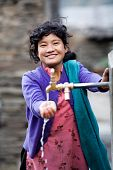 Portrait Of Nepalese Young Girl