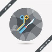 picture of surgical instruments  - Surgical Instrument Flat Icon With Long Shadow Design elements for mobile and web applications - JPG