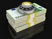 Pile of Euro Protection (clipping path included)