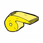 retro comic book style cartoon whistle